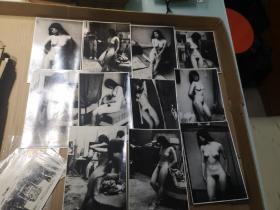 中国早期模特照片11幅 应为名家所摄 尺寸12/18厘米