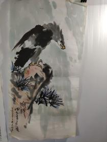 王挥春。国画。俯视   66厘米33厘米软片。1987年作品。