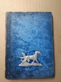 五十年代苏联制作 老照片一册 五六十幅 天鹅绒面 银饰小狗 每幅尺寸14/9厘米