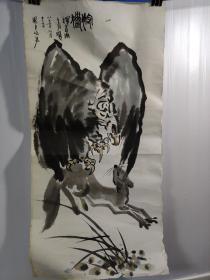画家。王挥春国画一幅.。1987年作品