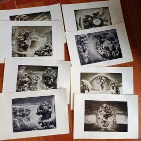 大湖石 石版画照片8张