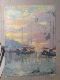 无款油画画一幅 尺寸27/20厘米