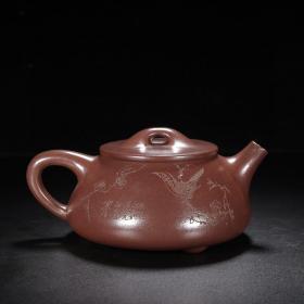 品名:石瓢壶 尺寸:16/7cm 容量:400cc 紫砂分类:紫泥