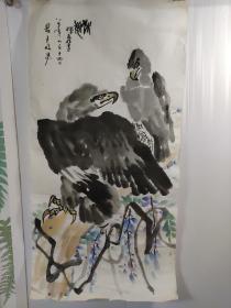 1987年。画家。王挥春。作品。67厘米34厘米软片。自然黄一点