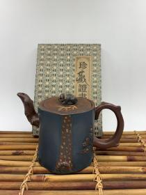 精品紫砂壶,材质:原矿宝石蓝,容量:约300cc左右