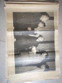 1955年毛泽东周恩来在中南海会见日本恢复日中日苏邦交国民会议会长久原房之助
