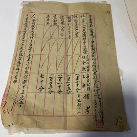 新中国时期 1954年 虔南县 今江西龙南县 第三区 龙下中医联合诊所入所成员股金股份册