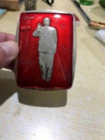 毛主席接见红卫兵奇形像章、品相完好、包老保真