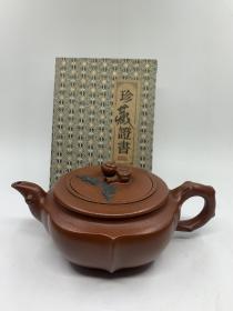精品紫砂壶,材质:朱泥,容量:约380cc左右