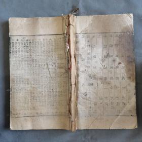 清中期木刻大本历书资料古籍  道光二十六年时宪书 46页92面 一厚册