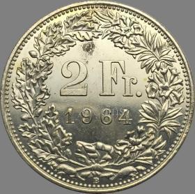 瑞士1964年硬币