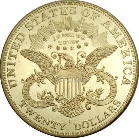 双鹰与座右铭 1900硬币