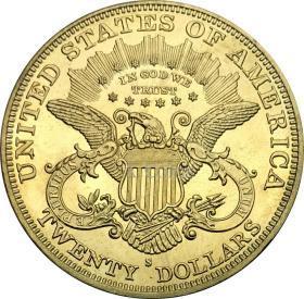 美国1885双鹰与座右铭硬币