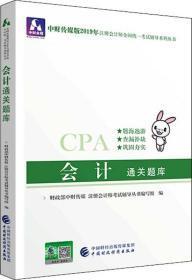 注册会计师2019教材辅导CPA2019年注册会计师考试教辅:会计通关题库