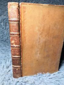 1818年  THE WORKS OF LORD BYRON   卷三  含藏书票 全皮装帧 三面书口花纹  17X10.5CM