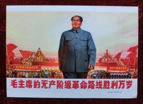 16开宣传画:毛主席的无产阶级革命路线胜利万岁