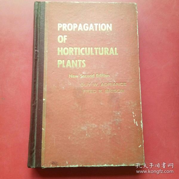 英文原版,园艺植物的繁植