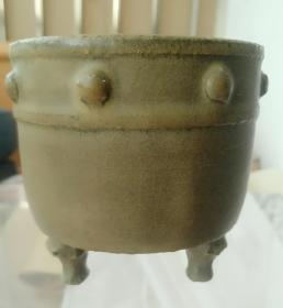 老件青瓷鼓钉洗