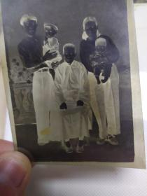 早期军人家庭合影底片