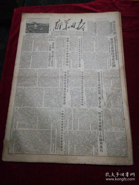 新华日报1954.10.16(1-4版)老报纸、旧报纸、生日报…《中华人民共和国和印度共和国贸易协定》《社论:学习第一届全国人民代表大会第一次会议的文件》《苏联文化代表团到达南京》《中印贸易协定在新德里签字》