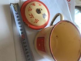 大文革时期毛主席万岁,毛主席语录精品搪瓷杯。