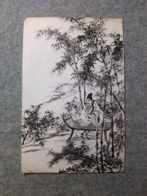 老画 佚名国画原稿手绘精品 画心软片