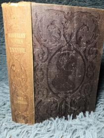 1851年 WAVERLEY NOVELS 威弗利小说   卷38  TALISMAN 双面封面印有饰图 18X11.5CM