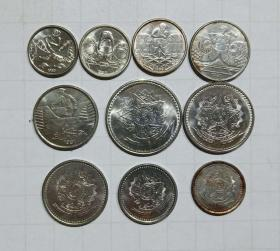 巴西 硬币10枚旧品 外国钱币 b
