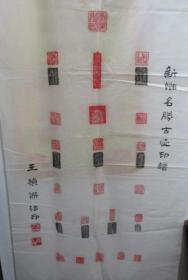 王桢杰篆刻:新乡名声古迹印谱