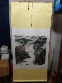 陈岳明山水画一张