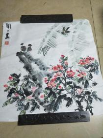 书法、书画,花鸟工笔画一幅。A4.
