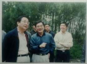 老照片:领导在绍兴兰亭