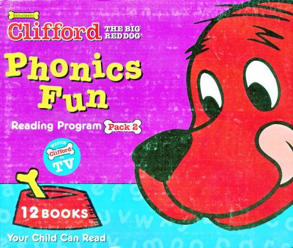 Clifford Phonics Fun Box Set #2 (Books + CD)  大红狗趣味自然拼读套装2,12册书附CD