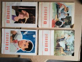 少年科学画册(1977年第1期.创刊号、第2期,1978年第3.4期)4期合售