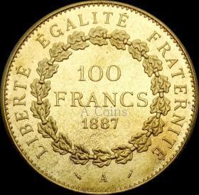 法国1887年硬币