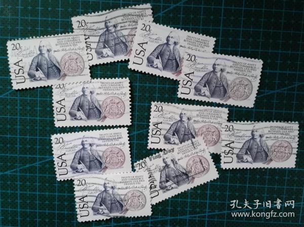美国邮票----富兰克林(信销票)