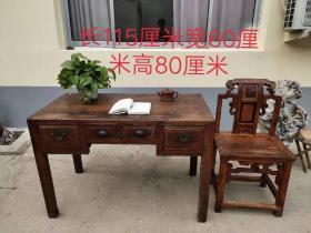 老榉木书桌一套,清末民初时期,品相完好,入手即可使用,尺寸如图,值得拥有