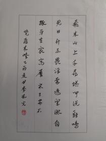 山东青岛-书法名家    李风光    钢笔书法(硬笔书法)书法 1件 出版作品,出版在 《中国钢笔书法》杂志杂志2005年9期第53页 --保真--见描述