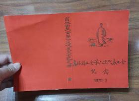 1973年吉林省工会第六次代表大会纪念册封面画稿