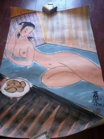 六七十年代中央美术学院教学示范画【国画纯手绘】