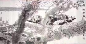 国 家   136*68  纸本画心  1962年生于山东济宁,原名国建庭,现为中国美协会员,济宁市美协副主席,沂蒙画派研究院副院长,文化部中乡办国画院创作室主任,国家一级美术师。