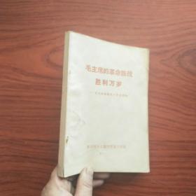 毛主席的革命路线胜利万岁(北京师大 带毛林像)