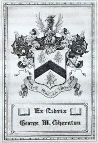 美国藏书票黄金时期(Edmund H. Garrett )铜版藏书票 1901