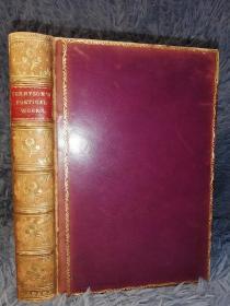 1899年  POETICAL WORKS OF ALFRED LORD TENNYSON 《丁尼生诗全集》 全皮装帧 三面刷金  烫金书脊  18.5X13CM