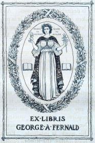 美国藏书票黄金时期(Edmund H. Garrett )铜版藏书票 1903