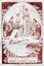 美国藏书票黄金时期(Edmund H. Garrett )铜版藏书票 1895