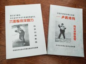 品相超好无任何瑕疵翻箱底找出的《中国内家拳学核心机密一一卢氏结构+六面整体浑圆力科学训练教程》2本合售