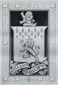 美国藏书票黄金时期(Edmund H. Garrett )铜版藏书票 1899