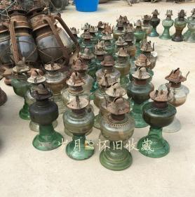 民俗老物件老油灯玻璃老煤油灯怀旧50 60年代老灯古董收藏【一个价格】