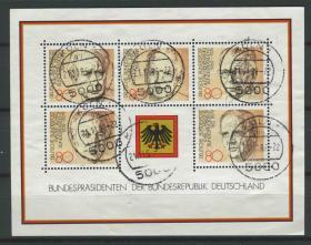 德国邮票 西德 1982年 民主的基本思想 联邦德国历任总统 小全张信销